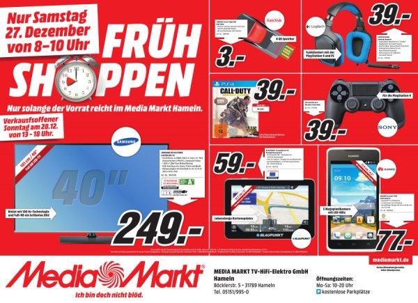 [Lokal] MediaMarkt Hameln (Samstag 8-10 Uhr) - Sony DualShock 4 Controller 39,99 € und weiteres