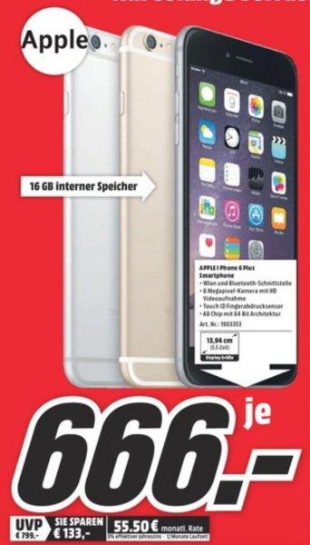 [Lokal] MediaMarkt Münster (Samstag 8-10 Uhr) - iPhone 6 Plus 16GB 666 €