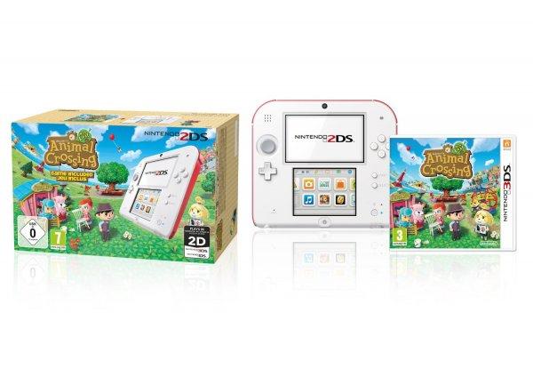 Neuer Tiefstpreis 94,77 EUR bei Amazon für Nintendo 2DS (weiß+rot) inklusive Animal Crossing (Limited Edition)
