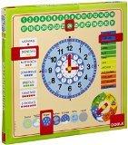 Jumbo D51309 - Kalender-Uhr  (Amazon.de) Lern Uhr rund um die Zeit