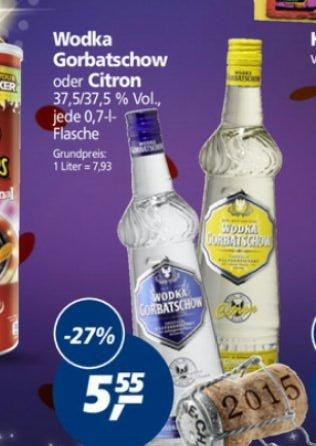 Real Wodka Gorbatschow und Gorbatschow Citron nur je 5,55 € 0,7L