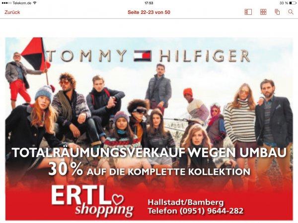 [Lokal Oberfranken] Tommy Hilfiger 30% auf Alles - Räumungsverkauf Ertl Einkaufszentrum