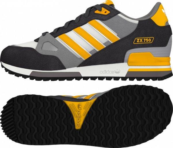 [f-low-s.de] Adidas ZX 750 schwarz grau gelb für 49,99€