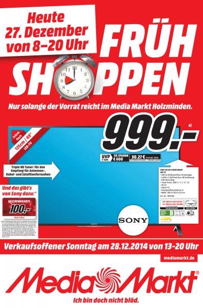 SONY 4K UHD KD49X8505 MediaMarkt Holzminden