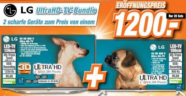 (lokal Expert in Cottbus) LG UltraHD-TV-Bundle - LG 55UB950V + LG 40UB800V