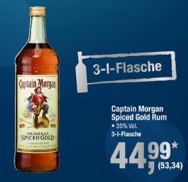 Captain Morgan Spiced Gold Rum in großer 3 Liter Flasche