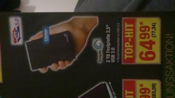 "[METRO] 2 TB Seagate externe Festplatte 2,5"" USB 3.0"