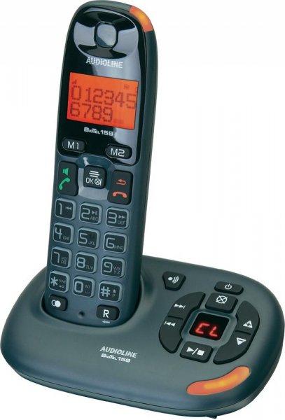 Audioline Bigtel 158 mit AB für 19,95€, großes Schnurlostelefon, ideal für Senioren