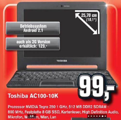 [lokal] Toshiba AC100 Smartbook @Alphatecc