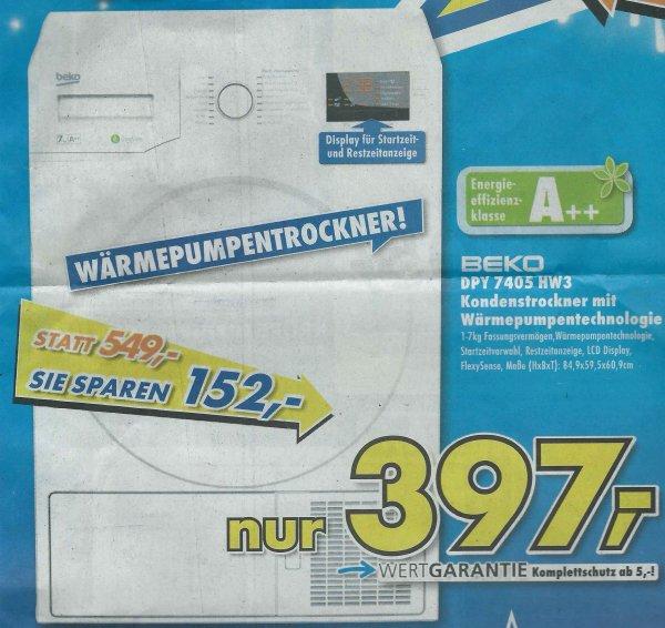 [lokal/offline] Beko DPY7405HW3 Wärmepumpentrockner / Euronics Sachsen