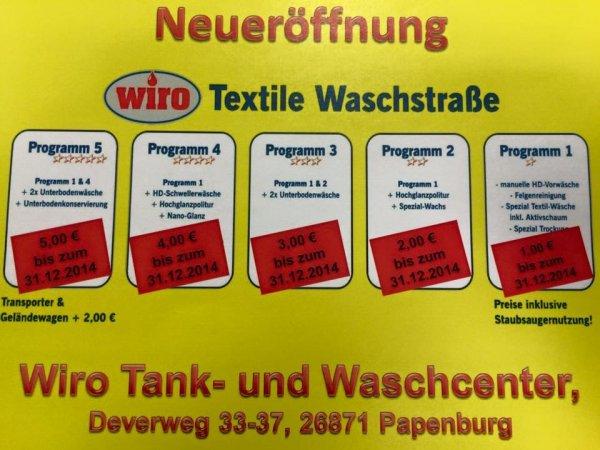 [lokal - Papenburg] Wiro - ermäßigte Autowäsche (70 - 87,5% Rabatt)
