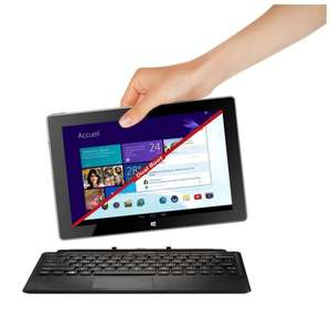 10,1 Zoll Dual Boot Tablet (Windows 8.1 & Android 4.2) Intel Z3740D QuadCore CPU, 2GB Ram, 32GB Speicher, AZERTY Tastatur (Amazon.fr / Thomson)