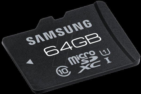 [reichelt.de] Samsung 64GB microSDXC-Karte (Class 10) für 32,55 €