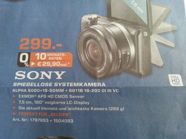 Lokal: Sony Alpha 5000 + 16-50Mm + B011B 18-200 DI III VC
