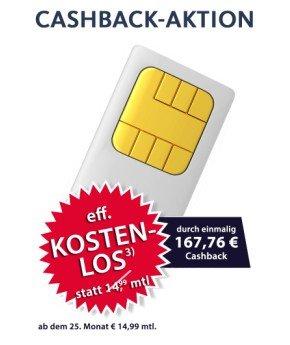 (GetMobile) E-Plus Flat + Festnetz-Flat + 500MB kostenlos! (Dank Cashback!)