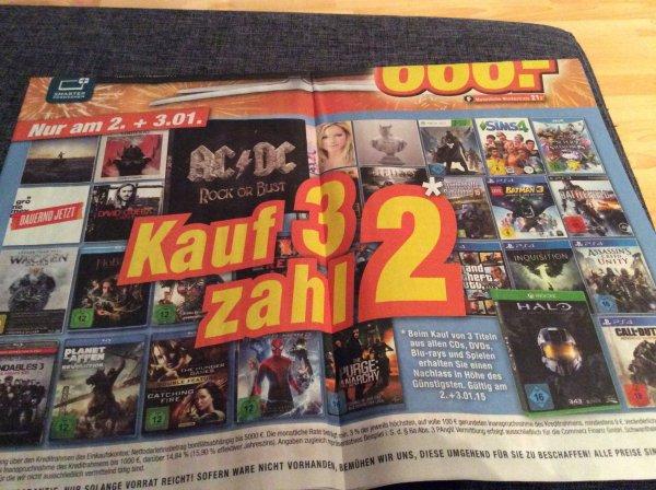 Expert: Kauf 3 zahl 2 (Alle CDs, DVDs, Blu-Rays und Spiele)