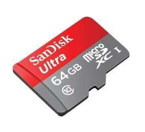 SanDisk Ultra 64GB MicroSD Karte class 10/48MB/s - Amazon.com / 27,31€ inkl. Versand / Steuer