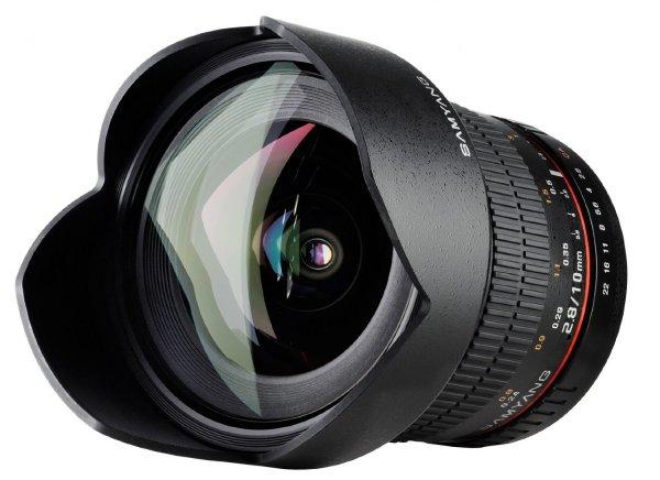 Samyang 10mm F2.8 ED AS NCS CS - Superweitwinkel Objektiv für Sony Alpha DSLR @ Amazon.com
