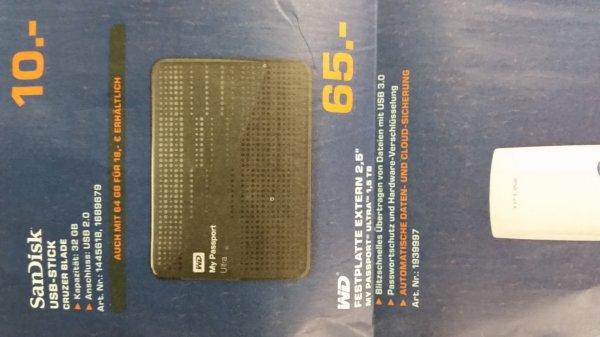 """[Saturn] Wd 2.5"""" 1.5 TB Externe Festplatte USB 3.0 evtl Lokal"""