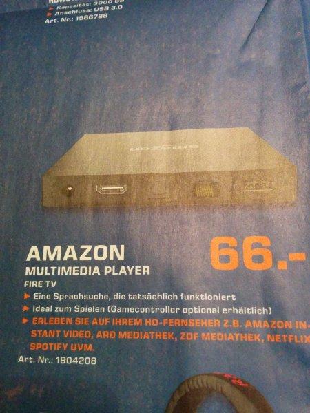 [Lokal?] Amazon Fire TV 66€ @ Saturn Hamburg