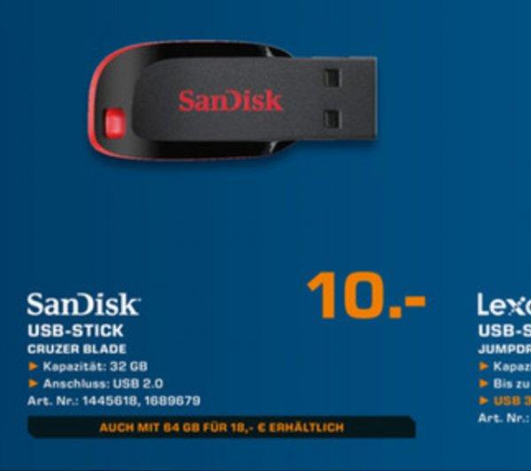 SanDisk 32gb USB Stick Cruzer Blade @Saturn HH