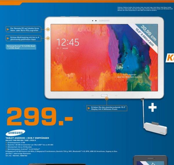 Samsung Galaxy Tab Pro 12.2 32GB WiFi (inkl DVB-T Adapter PICO2) für 299€,S3 Neo für 149€ LOKAL @ Saturn Hamburg