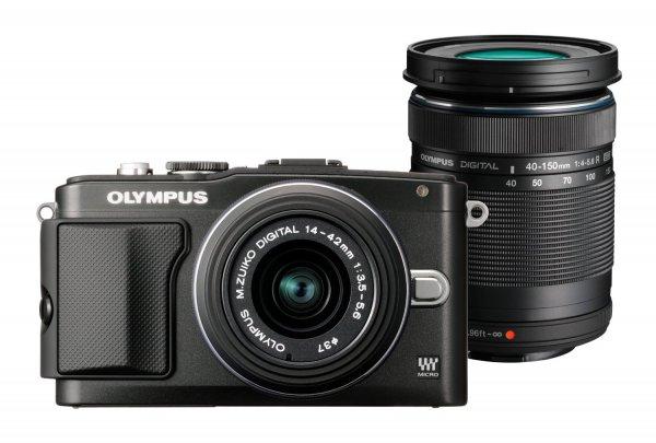 Olympus E-PL5 PEN Kamera Set Schwarz o. Silber ( Objektiv Olympus 14-42mm f/3.5 II R + Objektiv Olympus 40-150mm R) inkl.Vsk für 398,70 € > [amazon.es]