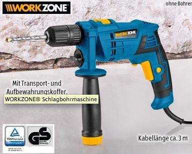 [Aldi SÜD Filiale Rundfunkplatz 4 München] 30 % runter  WORKZONE® Schlagbohrmaschine WZSB 500 mit 3 Jahren Garantie für unglaubliche 14,99 €