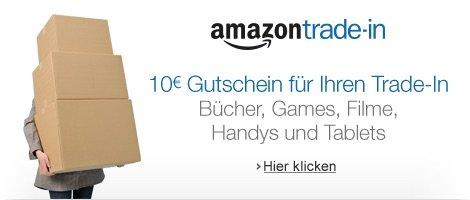 Für mindestens 20€ bei Amazon Trade In eintauschen + 10€ Gutschein erhalten