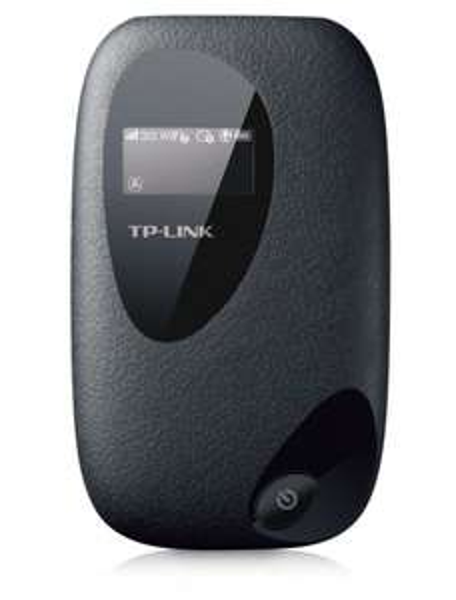 TP-Link M5350 Mobiler MIFI WLAN-Router (Mobiler WiFi Hotspot, integriertes 3G/UMTS-Modem mit bis zu 21,6 Mbit/s, Wireless-N-Standard (IEEE 802.11n), SIM-Kartensteckplatz, OLED-Display, microSD-Kartenslot, HSPA+ 3G) schwarz
