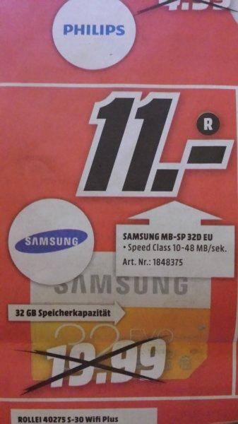 Lokal? Media Markt Essen Samsung 32 GB SD Karte Class 10