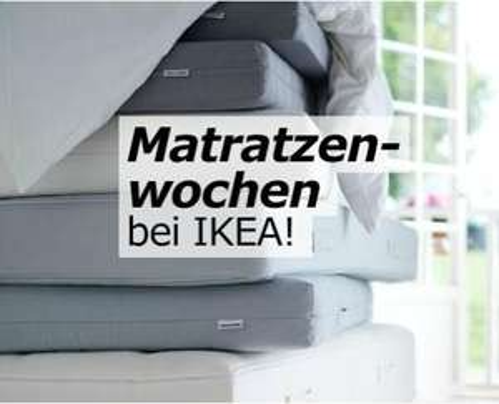IKEA: zwei Matratzen kaufen, 2. zum 1/2 Preis