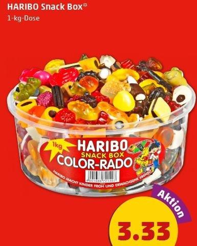 [Penny] 1Kg Haribo Color-Rado 3.33€, Müller Reine Buttermilch 0.39€