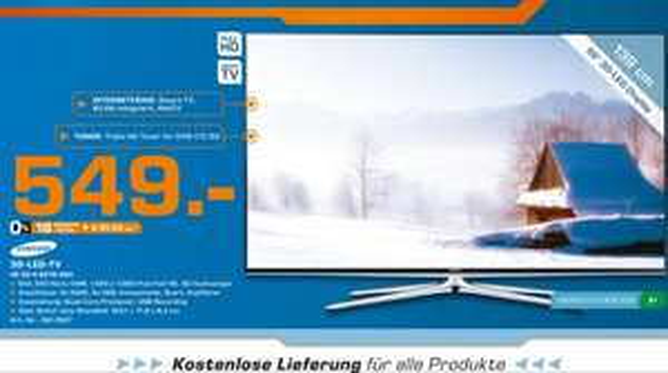 Samsung UE 55 H 6270 SSX mit kostenloser Lieferung - LOKAL