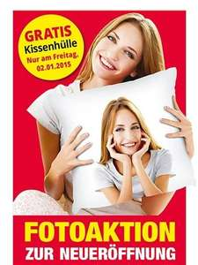 Lokal Peine: Gratis Kissenhülle mit eigenem Foto bei Hammer Heimtex am 02.01.2015