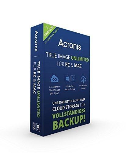 Acronis True Image 2015 für PC und Mac 3 PCs für $47.99