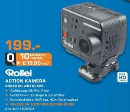 [Lokal Saturn Raum Stuttgart] Rollei 6S Action Cam 199€ (PVG: 218,89)