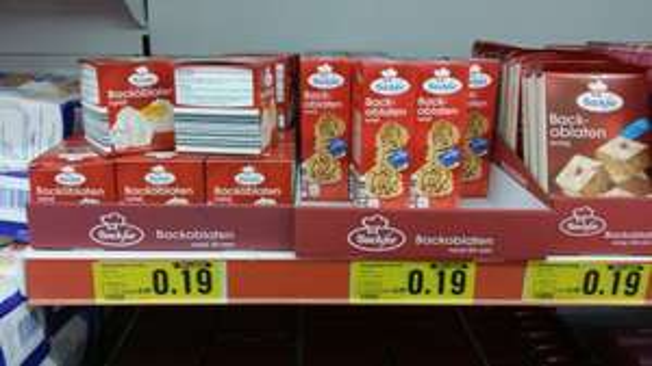 Backoblaten diverse Größen nur 0,19 Euro statt 0,49 Euro @ Netto-Markendiscount (Lokal Geisenheim?)
