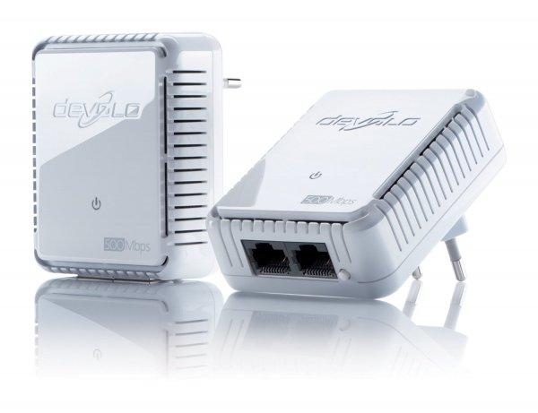 [Blitzangebot bei Amazon] devolo dLAN 500 duo Starter Kit (500 Mbit/s, 2 Adapter) für 37€