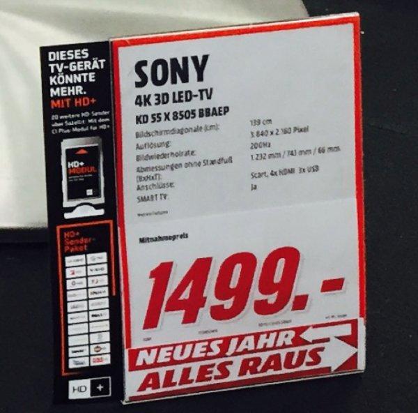 Sony KD-55X8505 (Lokal MediaMarkt Paderborn)im