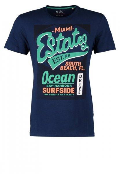 [Amazon Prime] edc by ESPRIT Herren T-Shirt mit Print - Slim Fit in blau, grau oder weiß für 6,66 Euro