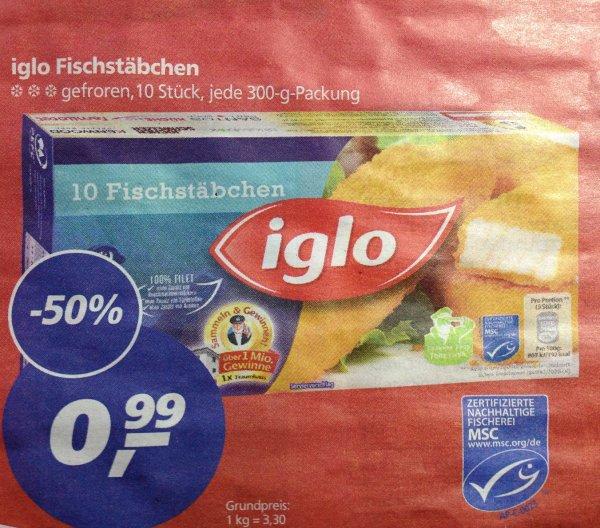 [REAL BUNDESWEIT??] iglo Fischstäbchen 10er Pack 0,99 €
