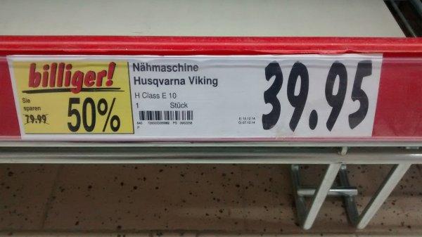 Nähmaschine Husqvarna Viking Huskystar E10 bei Kaufland Landshut für 39,95