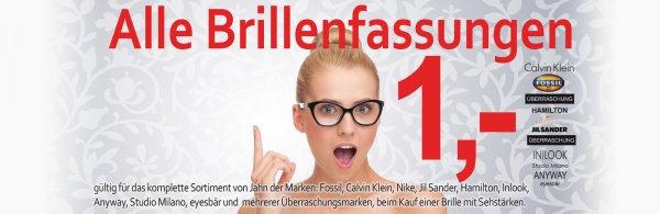 Markenbrillenfassungen für 1€ (LOKAL KÖLN)