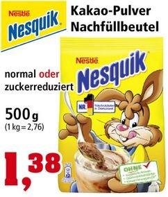 [THOMAS PHILIPPS]KW02: Nesquik Normal oder Zuckerreduziert 500g für 1,38€