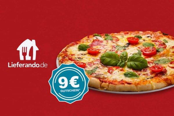 Lieferando | 9 € Gutschein | Mbw. 10 €