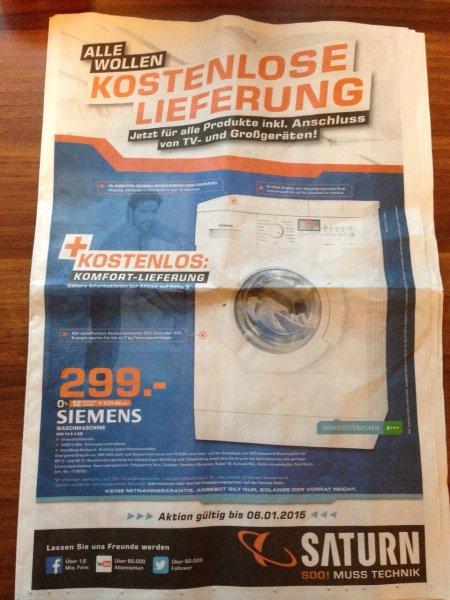 [Lokal Saturn Bremen] Siemens Waschmaschine WM14E4ED inklusive Komfort Lieferung