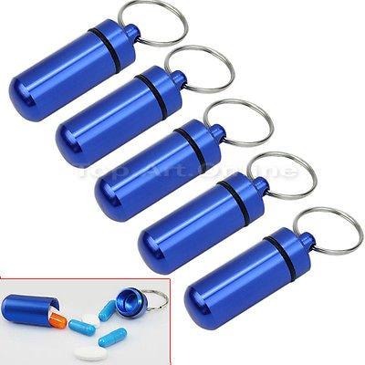 (HK) Nano / Micro Geocaching Pillendosen / Wasserdicht - 5 Stück - 2,76€