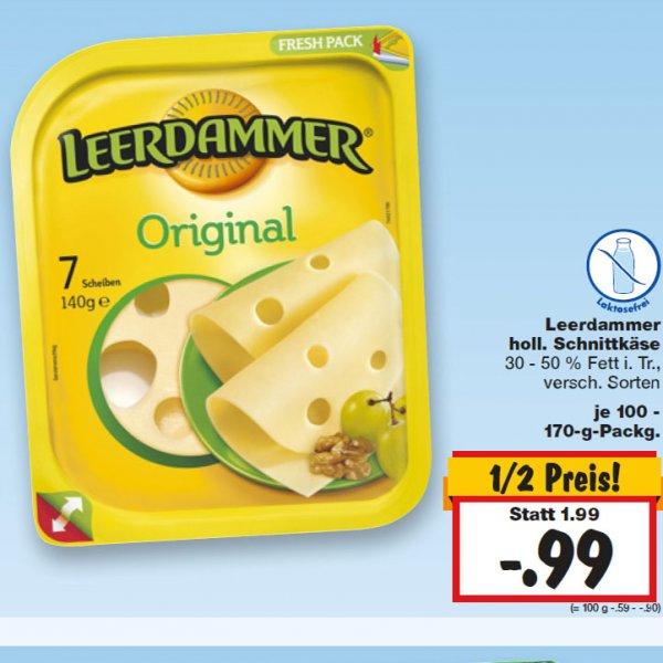 Alles Käse, Leerdammer Scheibenkäse zum halben Preis KW 02 [Kaufland]
