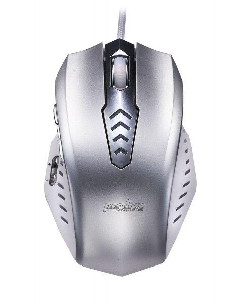 Computer Spiele Maus mit 8000dpi, veränderbaren Gewicht von Perixx mit Laser